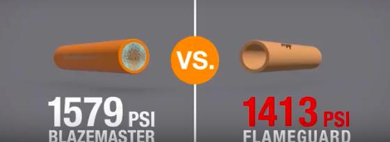 BlazeMaster Pipe vs. Spears FlameGuard Pipe Video screenshot