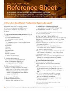 BlazeMaster AHJ Checklist