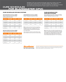 Cover of BlazeMaster Best Practices Cure Schedules