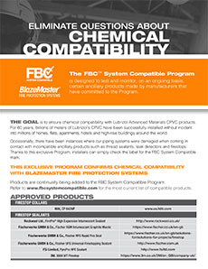 Eliminate questions about chemical compatibility