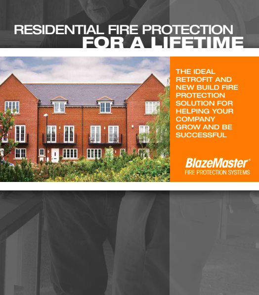 Residential Fire Protection For A Lifetime Brochure Cover