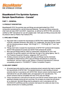 BlazeMaster Sample Specification - Canada