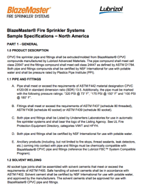 BlazeMaster Sample Specification - North America