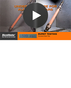 Video: Harvested Pipe Burst Testing