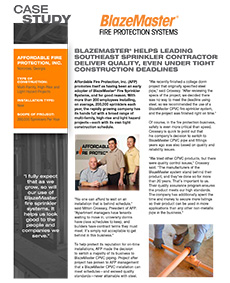 Downloadable Case Study Affordable Fire Protection Co